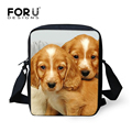 Fashion Mini Women Messenger Bags Cute Animal Dog Printing Kids Crossbody Bags High Quality Women Girls Shoulder Messenger Bags