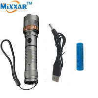 Nzk30 Matraque Samoobrona Akumulator latarki LED Latarka LM Cree XM-L T6 potężne Tactical Lantern USB ładowarka