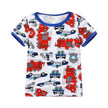 Leaping meter child boys t shirts cotton children clothes sizzling promoting summer season printed cartoon characters t shirts tops tees for boys