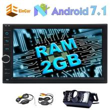 Android 7.1 Touch Screen Car two din GPS navigation 1080P video 2 din navigation unit OBD2 WiFi 3G/4G head wireless rear camera
