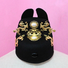 Adults Dragons Ming Dynasty Emperor hat ancient prince Chinese China Vintage performance cosplay