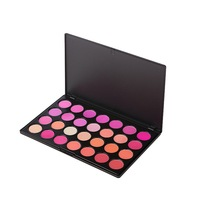 Happy Makeup Hot 28 Color Nature Eyeshadow Tray Set Blusher Peach Pink Tone Powder Blush Makeup Cheeks Blush Plate Face