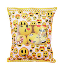 Food Pillow Plush 38*45cm Yellow Nordic Toys Expression Smiley Face Kawaii Pillow Girl Gift Valentine'S Day Present Soft Funny(China)