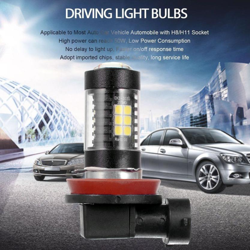 Auto led light 2PCS 3030 21SMD H8 H11 High Power 6500K Super White LED Fog Lights Driving Bulbs car light bulbs mar21