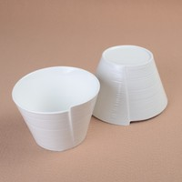 Unique Ceramic Rolling Serving Bowl Decorative Porcelain Reel Shape Bowl China Tableware For Noodles Ice Cream