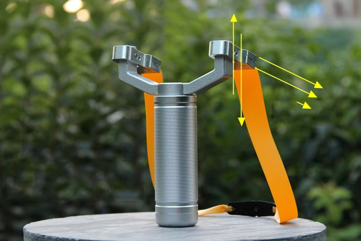 360 Degree Rotating Titanium Alloy Rotating Bowhead Slingshot Fast Pressure Wide Band Precision Catapult Outdoor Tool
