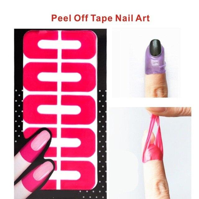 1pcs Peel Off Tape Nail Art Latex Palisade Creative Nail Protector ...