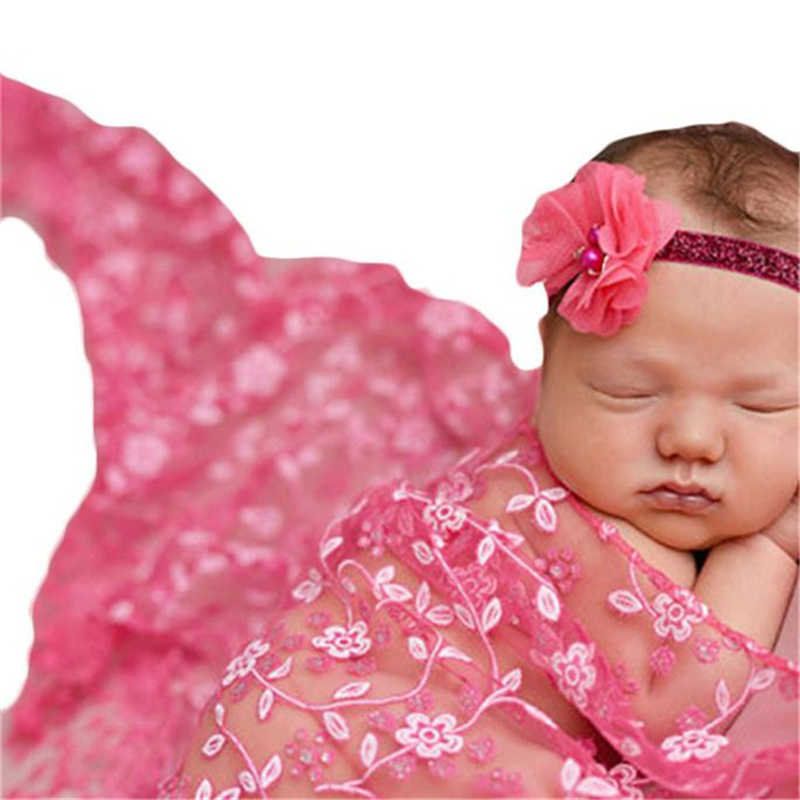 7bdc673fcbbe4 Baby Newborn Stretchy Backdrop Wrap Cloth Costume Photography Photo Prop  Outfits Stretch Lace Wrap Newborn Photography Props