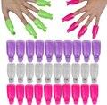 Acrílico Nail Art Soak Off Cap Clipe Set, Plástico Ferramentas de Gel UV Unhas Desengraxante Polonês Removedor Manicure Envoltório Inteligente Kit 10 pçs/set