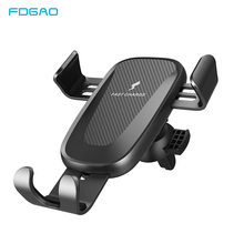 FDGAO Clamping 10W Qi Wireless Car Charger For iPhone X XS Max XR 8 Plus Samsung S9 S8 Air Vent Phone Holder Fast Charging Mount(China)