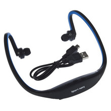 1pc USB Sport Running MP3 Music Player Headset Headphone Earphone TF Slot Newest