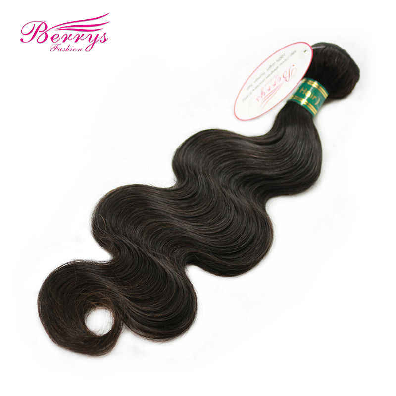 [Berrys Fashion] Top 10A Grade Virgin Haar Body Wave Hair Extensions 10-34 Inch 1/3 /4 stks/partij 100% Menselijk Weave Haar