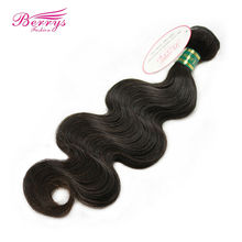 [Berrys Fashion] Malaysia Virgin Hair 100g Body Wave Hair Extensions 10-28 Inch 1Pcs/Lot 100% Human Weave Hair For Black Women