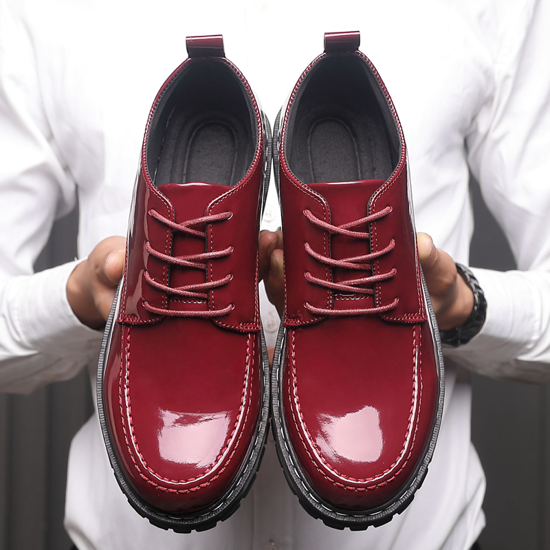 2fcf585f57 Yomior Men Casual Shoes Round Toe Breathable Formal Dress Shoes Outdoor  Work Leather Party Wedding Red Black Oxfords