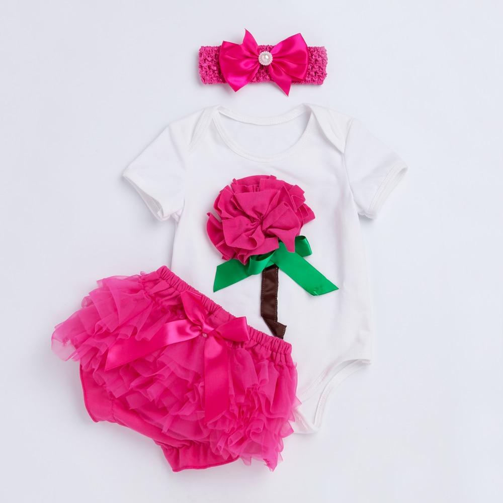 YK & LovingFlower Βρεφικά Κορίτσια Ρούχα Καλοκαίρι Στυλ Βαμβάκι Κοντομάνικο Βρεφικό Ρούχα Βρεφικά Μωρά Σορτς Νεογέννητο Βρεφικό Κορίτσι Ρούχα