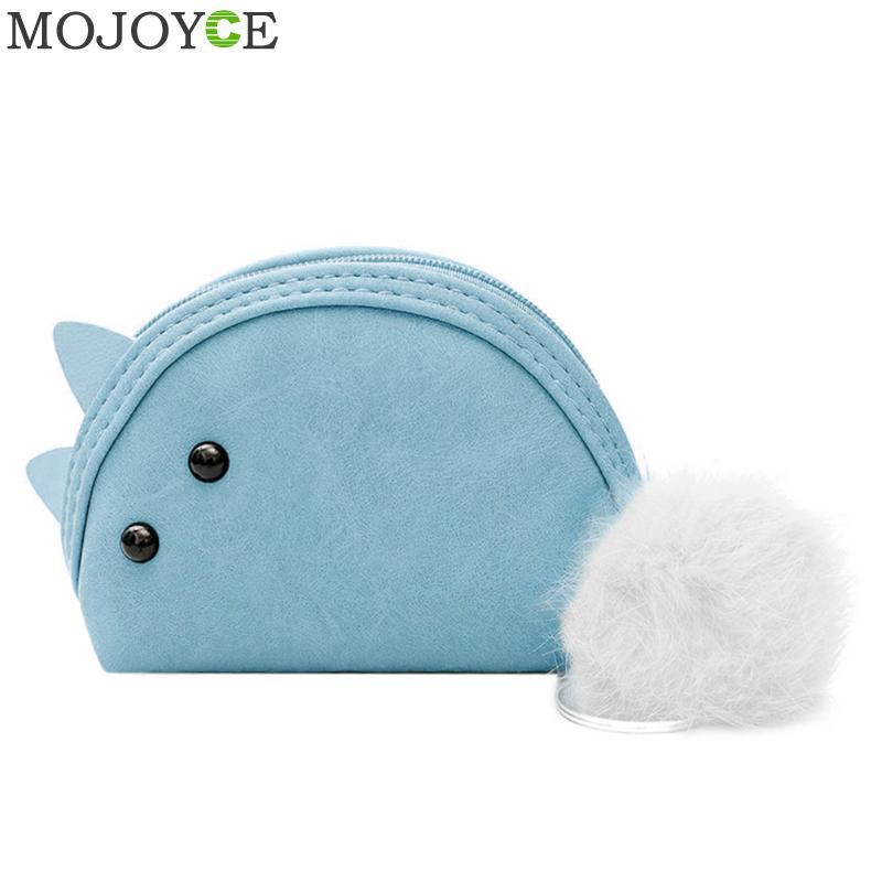 Women Cartoon Animal Coins Bag Soft PU Leather Coin Purse Zipper Mini Purses Fashion Women Wallets Girls Change Purse Bag 2018