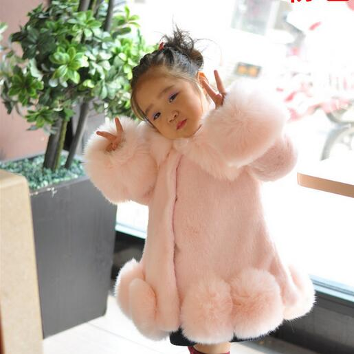 Girls winter coat children's outwear leopard faux fur coat autumn jackets for girls casual clothes baby wool thick coat warm
