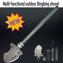 2017 New design ordnance shovel folding multifunctional shovel/knife/screwdriver//magnesium rod,Aluminum oxidation handle