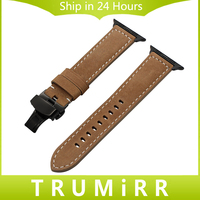 Italian Genuine Leather Watchband For IWatch Apple Watch Series 1 2 3 38mm 42mm Vintage Band