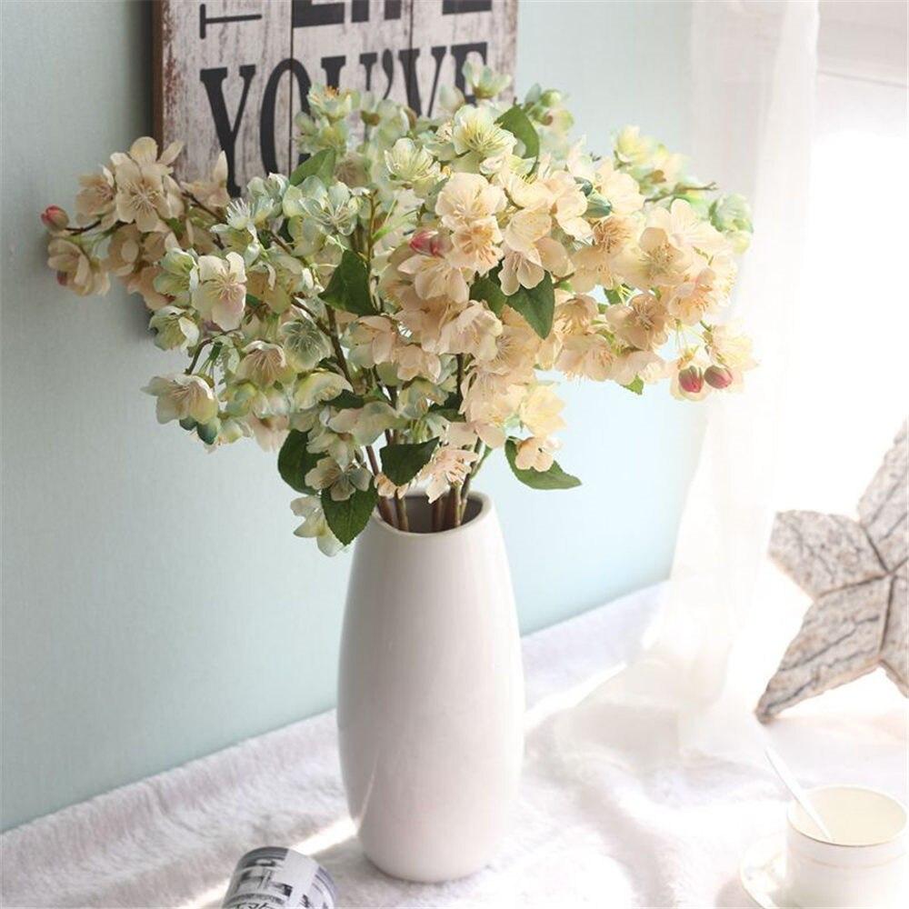 Wedding Deccration Artificial Flower Faux Silk Fake Cherry Blossom