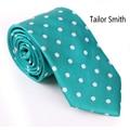 Tailor Smith Magic Green Male Tie Fashion Wedding Business Dress Tie 100% Silk Woven Jacquard Classical Luxury Dot Necktie