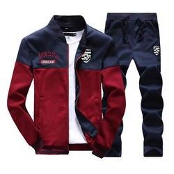 Модные Новое поступление спортивные костюм для мужчин весна и осень повседневное Толстовка + треники двойка облегающая спортивная одежда