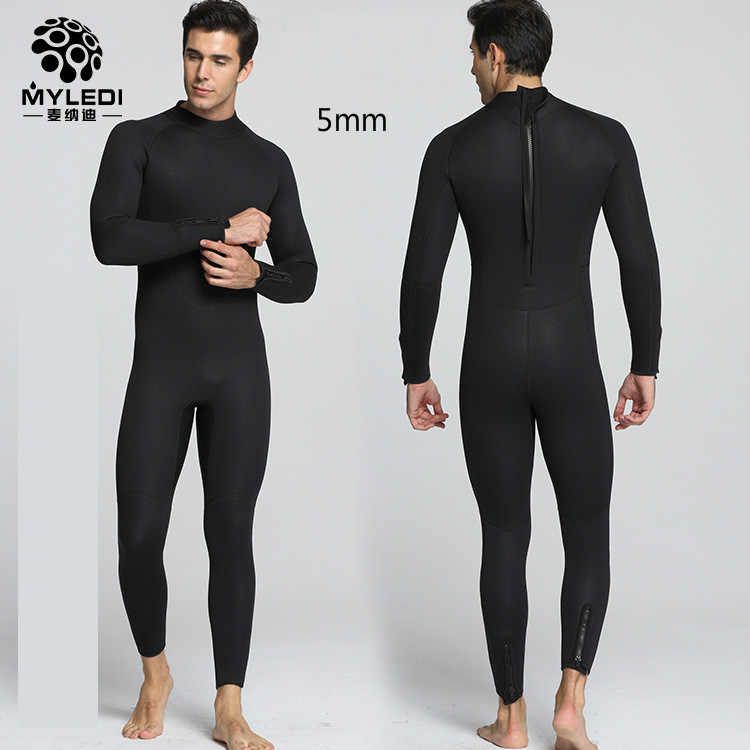 5mm diving suit men s suede interior warm cold wet clothes and surf clothes