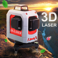 3D Leveler Professional Laser Level 360 Super Powerful Laser Leveling Tool Tripod Construction Tool Nivel Laser