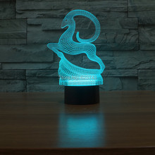 Slong Light 3D USB 7 Color Change Deer led night light Amazing LED Lamp Christmas