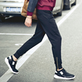 2016 Мода новые мужские случайные штаны Брюк манжеты молния дизайн Эластичный шнурок брюки тенденция спортивные Большой размер мужской одежды