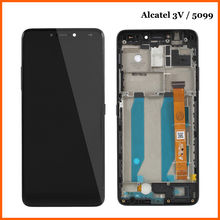 6.0For Alcatel 3V 5099 5099A 5099D 5099Y 5099U Complete LCD Display+Touch Digitizer Panel Glass Sensor Assembly Spare Parts