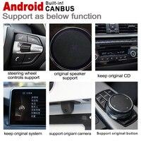 "hd מסך 10.25"" סטריאו מסך HD 7.0 אנדרואיד עד לרכב GPS Navi מפה BMW 5 F10 F11 2009 ~ 2012 CIC מקורי סגנון מולטימדיה נגן רדיו (4)"