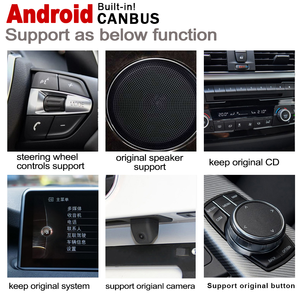 Flash Deal 2G+16G Android 7.0 up Car radio GPS multimedia player For BMW X1 F48 2015~2019 Navigation WiFi BT Radio Media 3