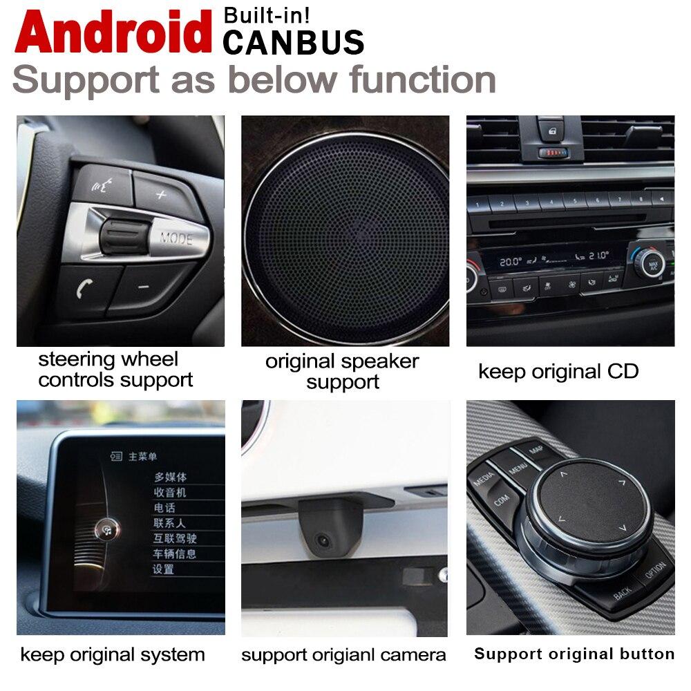 מערכת ניווט GPS אנדרואיד 2 DIN לרכב נגן GPS עבור BMW X1 E84 2009 ~ 2015 רדיו סטריאו מסך HD נגן מולטימדיה מפת ניווט IPS מערכת WiFi (5)