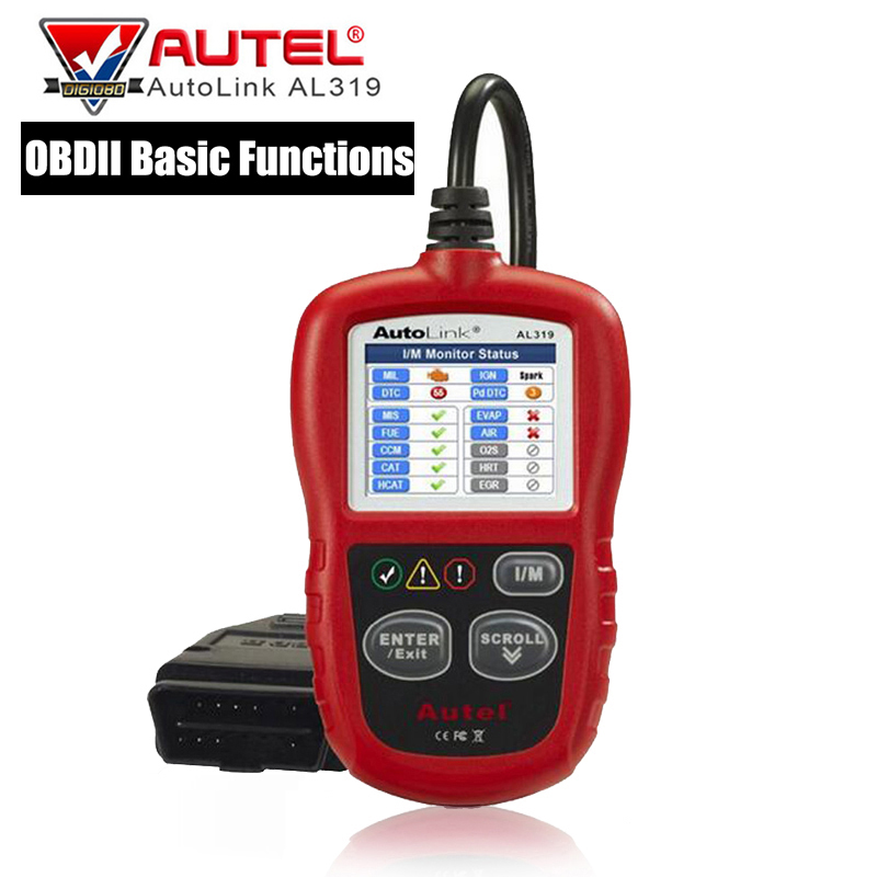 Autel AutoLink AL319 OBD2 Auto Scanner Diagnostic Tool Engine Fault Code Reader Scan Tool Universal for Vehicle Read Clear Codes free shipping high quality autel autolink al301 obd2 can code reader auto link al301 auto diagnostic scan