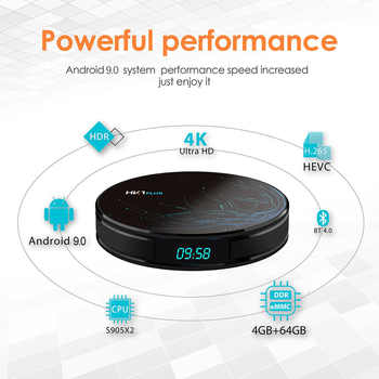 4GB 64GB Android 9.0 Smart TV BOX HK1 PLUS Amlogic S905X2 Dual Wifi BT4.0 USB3.0 H.265 4K Youtube Google Voice Assistant HK1PLUS