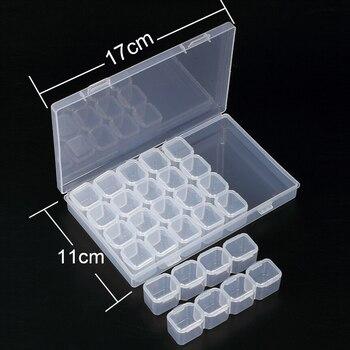 28 слотов алмазная живопись наборы пластик коробка для хранения дизайн ногтей инструменты из горного хрусталя бусины Коробка Для Хранения Ч...