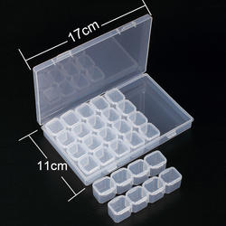 28 слотов алмазная живопись наборы пластик коробка для хранения дизайн ногтей инструменты из горного хрусталя бусины Коробка Для Хранения