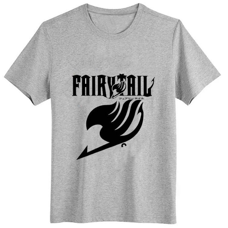 Cute Unicorn Fairy Tail t shirt Mens t-shirts guild cotton tshirt homme summer casual t-shirt boys clothes anime tops tees