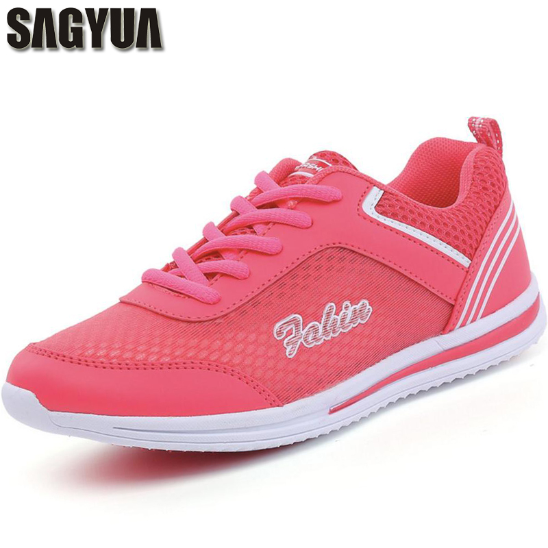 SAGYUA Women Youth Summer Lady Fashion Casual Breathable Leisure Comfort Female Lace Up Flat Flattie Shoes Footwear Sapatos T168