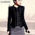 CLUXERCER Brand leather jacket women motorcycle jacket female slim pu jacket  plus size ladies leather jackets