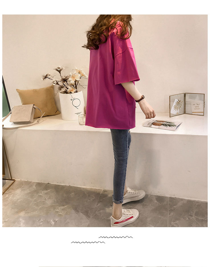 Candy Color Short Sleeve Loose T-Shirts Girls Summer 19 New Cool O-Neck Boyfriend Student Women T-Shirt Lady Tops Plus Size 7