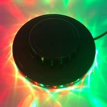 купить Black Disco Light Bar Club Party dj Lights RGB Led Par Flashing Stage Lighting Show Laser Light EU US Plug дешево