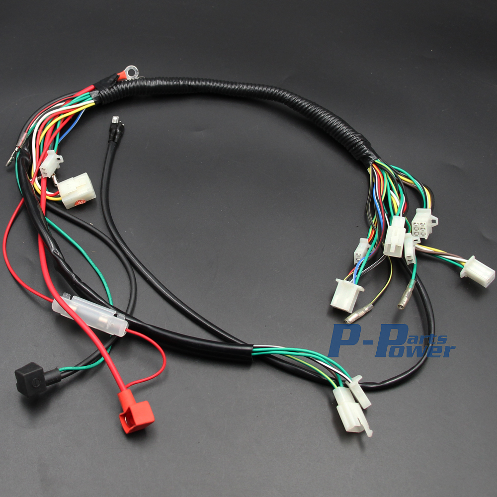 Wiring Harness Loom Solenoid Coil Rectifier Cdi Kill Switch 50cc 125cc Atv 70cc 90cc 110cc Quad Bike Buggy Gokart New In Motorbike Ingition From Automobiles