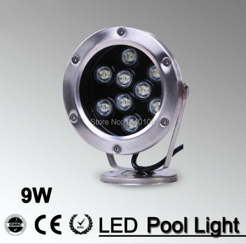 Waterproof Ip68 5pcs/lot Ac85-265v 9w 12w 15w Led Underwater Light Swimming Pool Lamp Marine Stainless Warm White/ Pure White