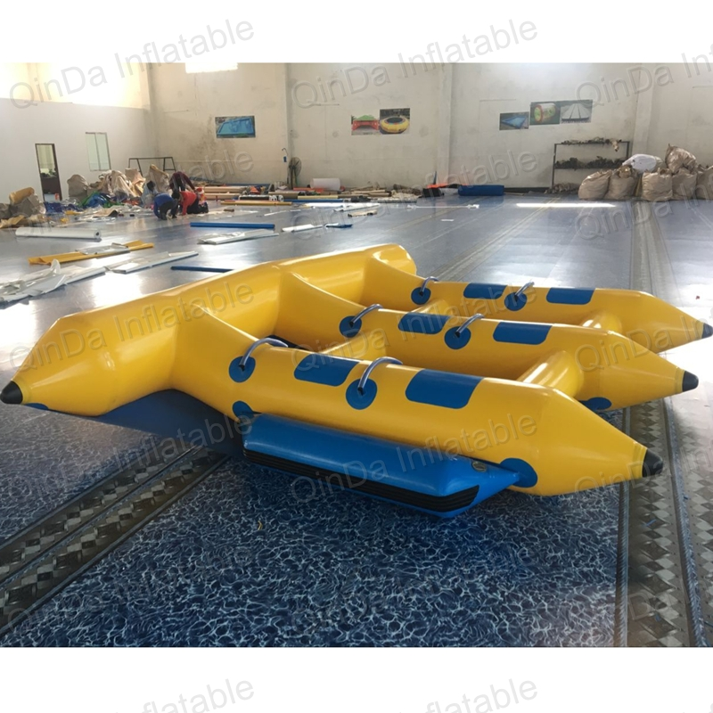 Durable pvc airtight summer sea sprots inflatable flying fish tube towable flying banana boat for sale
