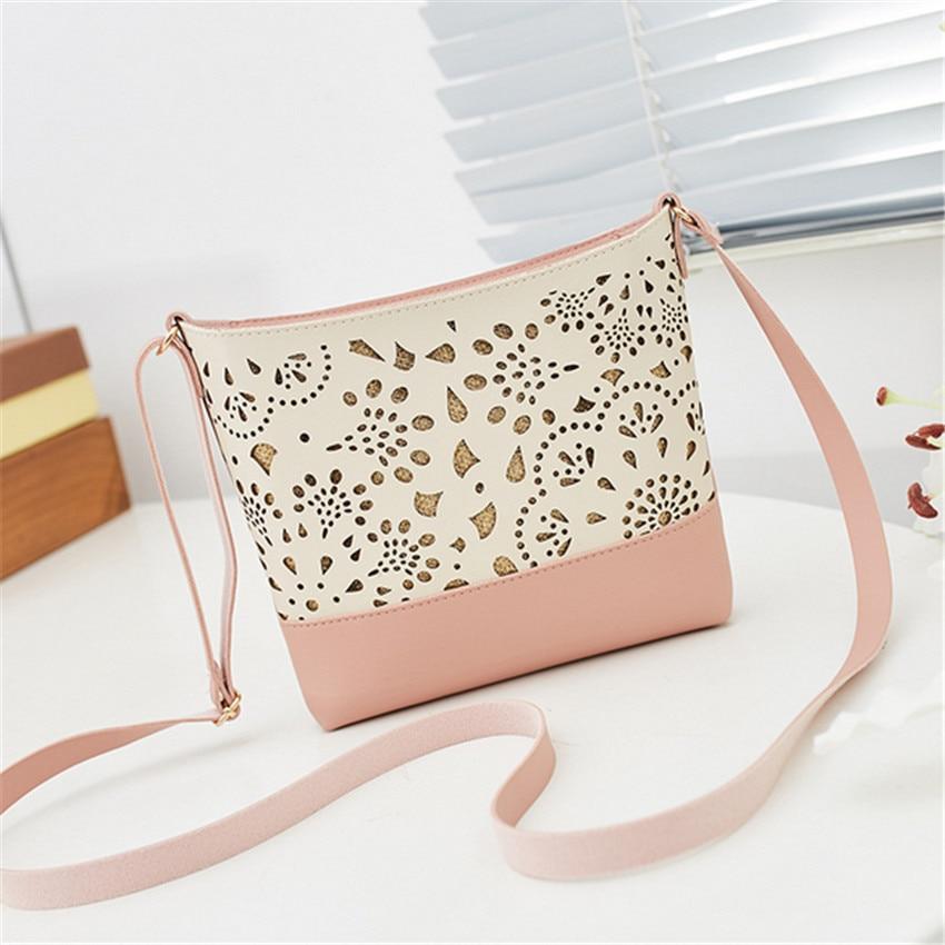 Lether Bags Women Handbags Bolsas Para Dama Sac En Bandouliere Rose