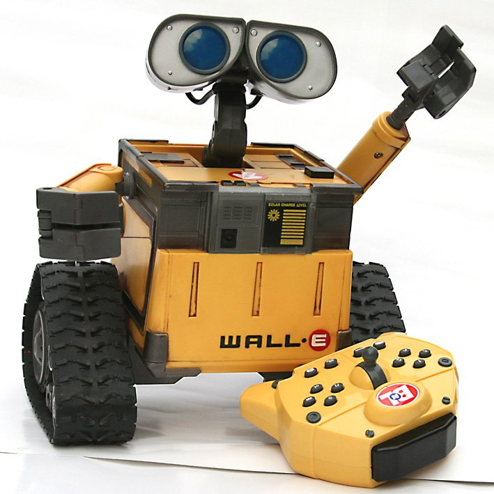 "Rc Wall: RC 9""Pixar U COMMAND WALL* E Remote Control Robot Humanoid"