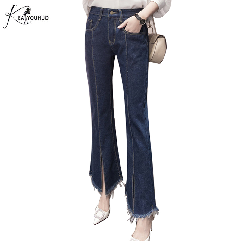 2017 Vintage Ladies Wide Leg Jeans Women Trousers Casual Plus Size S-5XL Pants Loose Denim Pants High Waist Jeans Women Vaqueros women girls casual vintage wash straight leg denim overall suspender jean trousers pants dark blue