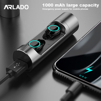 Arlado X8 Wireless Bluetooth 5.0 Stereo Earbuds Touch Control Mini Invisible Earphones Waterproof Earbuds for Sports Gaming
